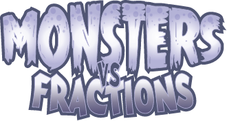 Monsters vs Fractions logo
